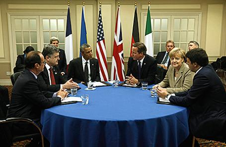 Саммит НАТО по Украине в Ньюпорте, Великобритания, 4 сентября 2014.