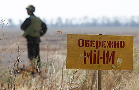 Украинский военнослужащий в Мариуполе.