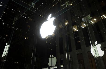 Вид на магазин Apple в Нью-Йорке.