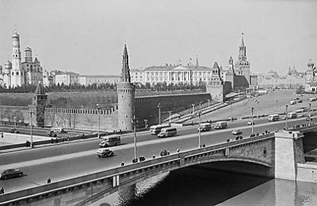 Вид на Кремль, 50-е годы ХХ века.