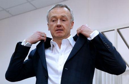 Бывший генеральный директор компании «Уралкалий» Владислав Баумгертнер в Басманном суде.