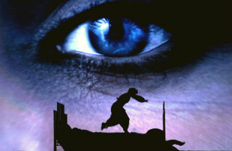 Сцена из 3D live-мюзикла «Pola Negri» в рамках юбилейного 85-го сезона в театре Российской армии.