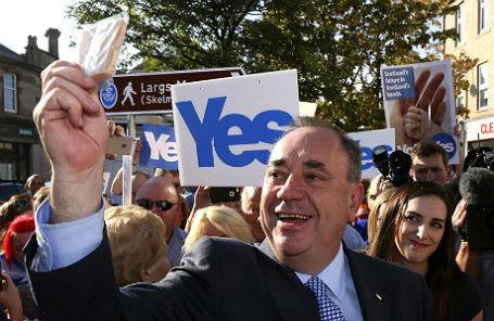 Первый министр Шотландии Алекс Салмонд.