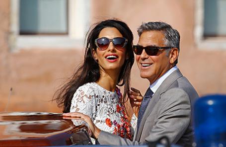 Молодожены Джордж Клуни и Амаль Аламуддин в Венеции.