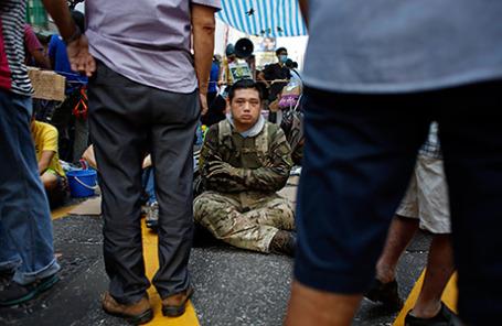 Протесты в Гонконге, 5 октября 2014.