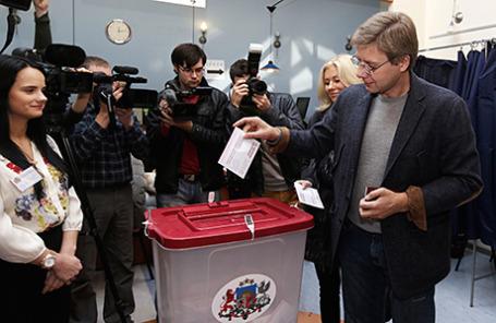 Парламентские выборы в Риге, Латвия.