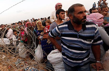 Сирийские беженцы.