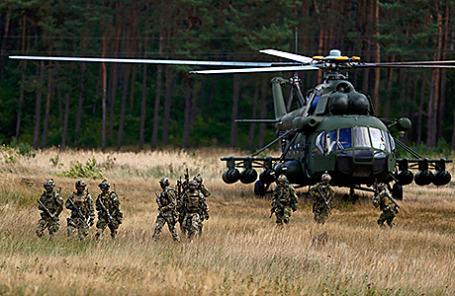 Польские военнослужащие на учениях НАТО.