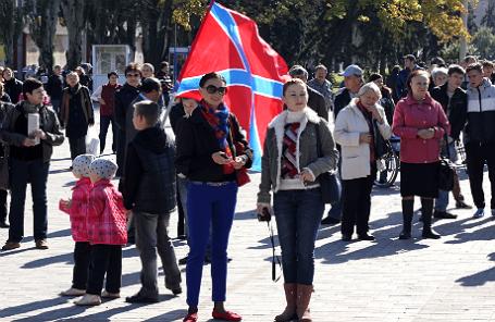 Во время мероприятий, посвященных празднованию первого полугодичного юбилея со дня провозглашения ДНР.