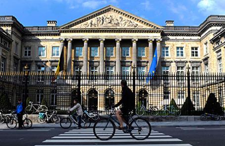 Вид на здание бельгийского парламента.