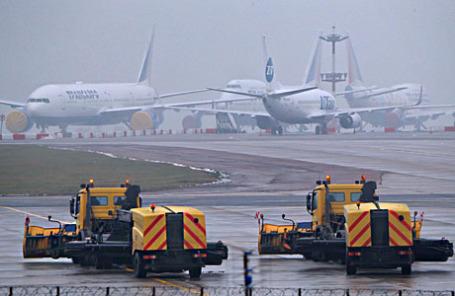 На территории аэропорта «Внуково-3», где разбился самолет Dassault Falcon 50.