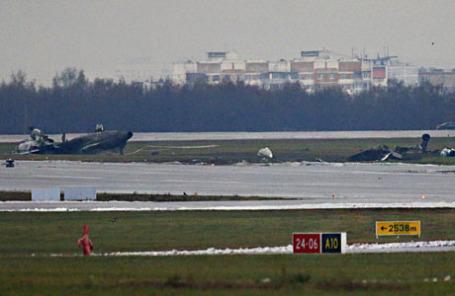 На месте крушения самолета Dassault Falcon 50.