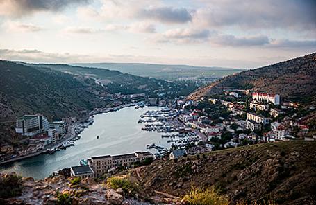 Вид на Балаклаву, Крым.