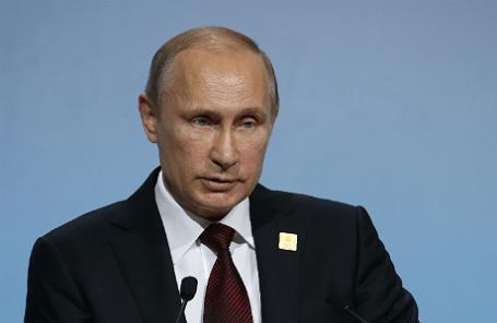 Президент России Владимир Путин на заседании в рамках Делового саммита форума АТЭС.