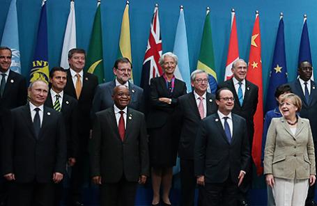 Участники саммита G20 в Брисбене, Австралия.