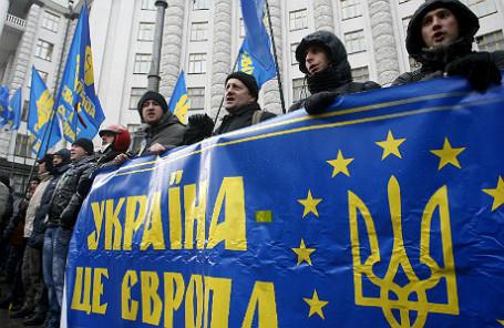 Во время демонстраций в Киеве.
