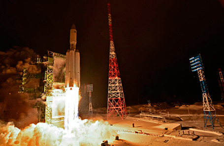 Старт ракеты-носителя «Ангара-А5» на космодроме Плесецк.