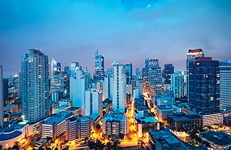 Деловой район Манилы, Филиппины.