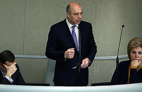 Министр финансов РФ Антон Силуанов (в центре).