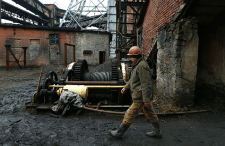 Работа шахты «Трудовская» в Донецке.