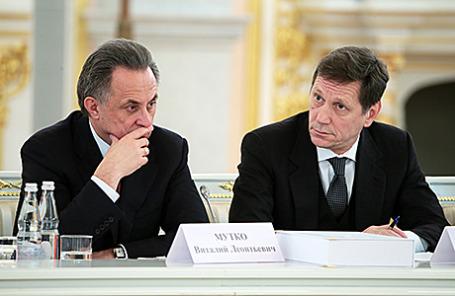Министр спорта РФ Виталий Мутко и президент Олимпийского комитета России Александр Жуков.
