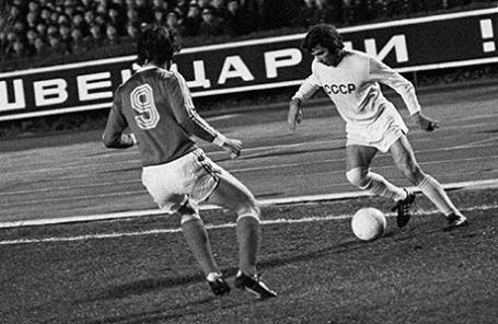 Футбольный матч «СССР – Швейцария», 1975 год.