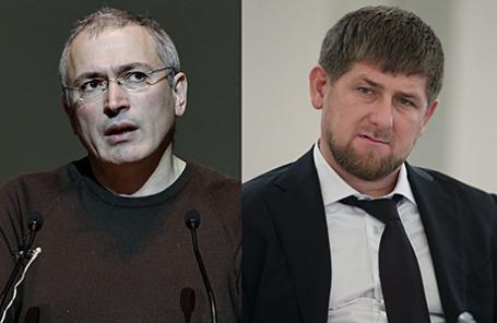 Экс-руководитель «ЮКОСа» Михаил Ходорковский и глава Чечни Рамзан Кадыров.