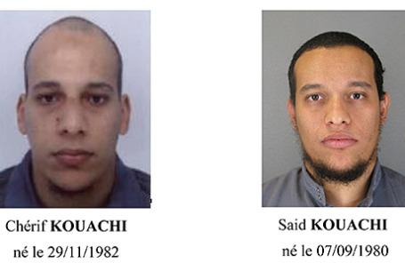 Братья Шериф и Саид Куаши (слева направо), подозреваемые в нападении на редакцию Charlie Hebdo в Париже.