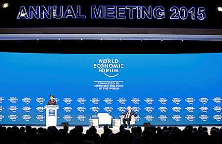 На Всемирном экономическом форуме в Давосе, Швейцария.