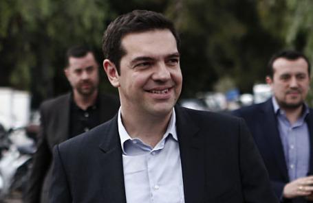 Лидер оппозиции и глава радикальной партии «Сириза» Алексис Ципрас.