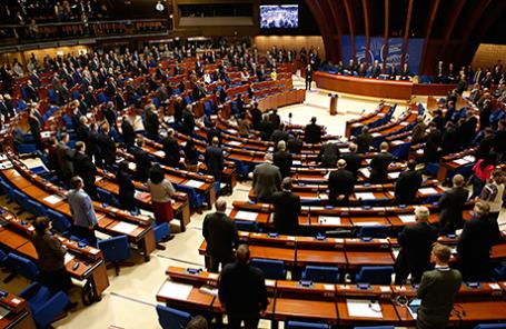 Зимняя сессия Парламентской ассамблеи Совета Европы в Страсбурге.