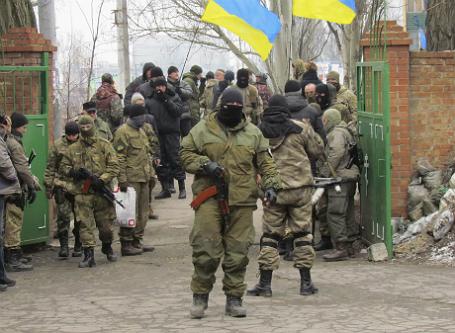 Украинские солдаты.