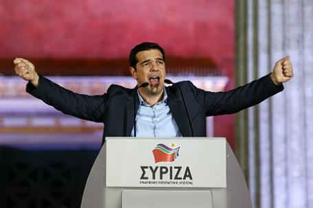 Премьер-министр Греции, лидер левой коалиции СИРИЗА Алексис Ципрас.