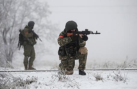 Украинские военные в Луганской области.