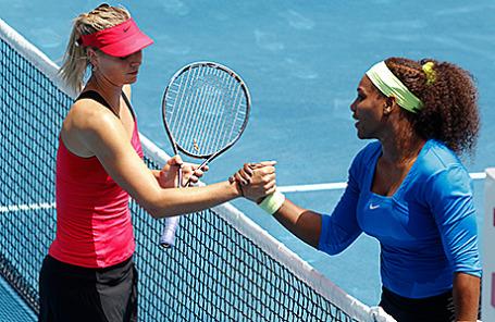 Теннисистки Мария Шарапова и Серена Вильямс (слева направо).