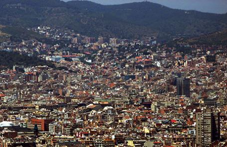 Вид на Барселону.