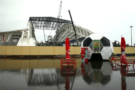 Реконструкция стадиона «Фишт» в Сочи.
