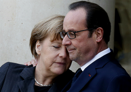 Канцлер Германии Ангела Меркель и президент Франции Франсуа Олланд.