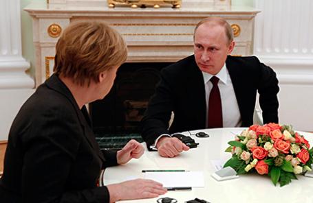 Канцлер Германии Ангела Меркель и президент РФ Владимир Путин.