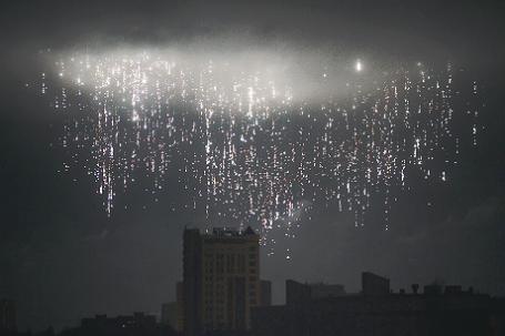 Ночной обстрел Донецка.