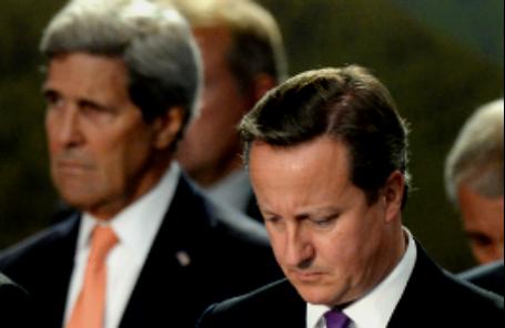 Госсекретарь США Джон Керри и премьер-министр Великобритании Дэвид Кэмерон.
