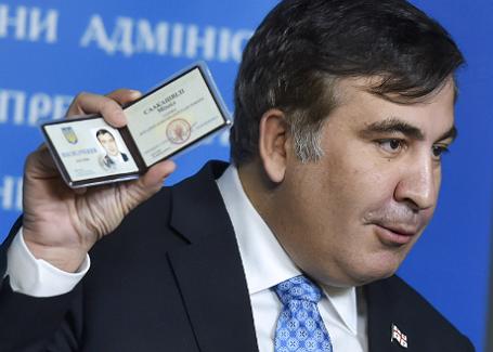 Брифинг внештатного советника президента Украины Михаила Саакашвили в Киеве.