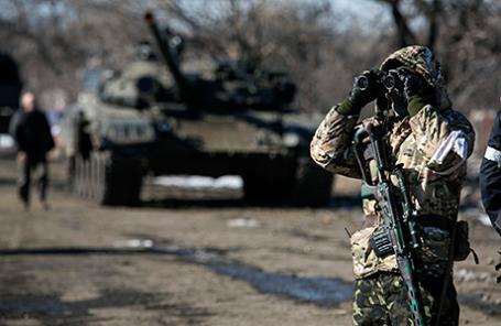 Ополченцы в Дебальцево, 18 февраля 2015.