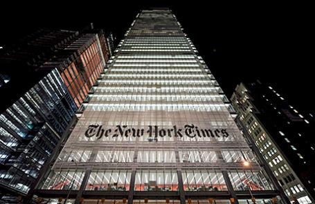 Офис газеты «Нью-Йорк Таймс» в Нью-Йорке.