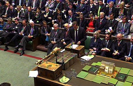 Заседания британского парламента.