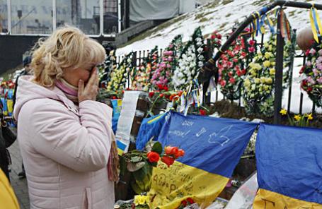 Годовщина Майдана в Киеве.