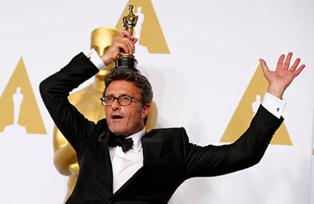 Режиссер Павел Павликовский на 87 церемонии вручения премии «Оскар».