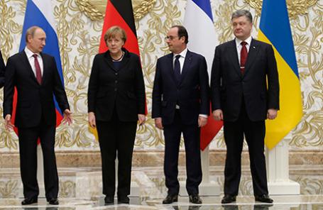 Встреча лидеров «нормандской четверки».
