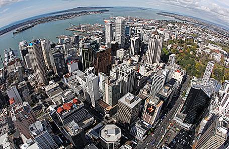 Вид на Окленд, Новая Зеландия.