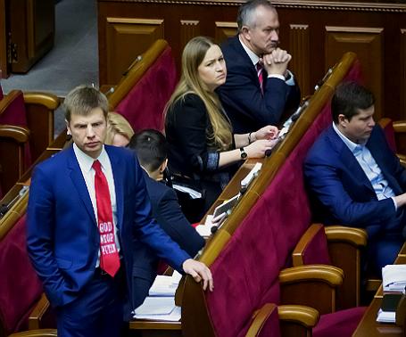 Алексей Гончаренко на заседании Верховной рады Украины.